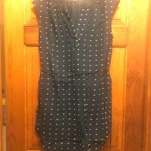 LOFT Dresses - Loft Embroidered Dot Shirtdress